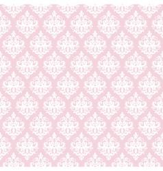 Damask seamless pattern in pastel pink vector