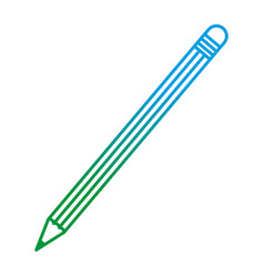 Degraded line wood pencil object school style vector