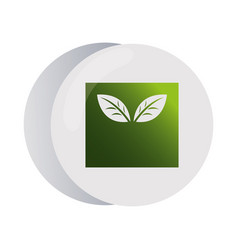 Design with leaft for corporate company vector