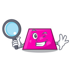 Detective trapezoid character cartoon style vector