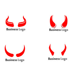 devil horn icon design template vector image