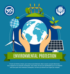 ecology and pollution concept vector image