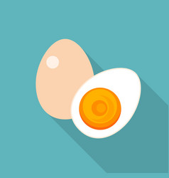egg icon with long shadow vector image