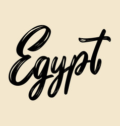 egypt lettering phrase isolated on white vector image