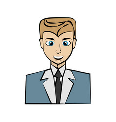 elegant man cartoon vector image