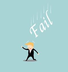 Fail investment cartoon concept vector