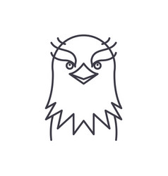 funny eagle line icon concept funny eagle vector image