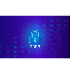 gdrp - general data protection regulation vector image