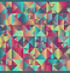 geometrical triangle background design vector image