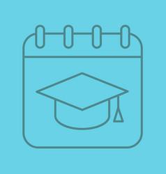 graduation date color linear icon vector image