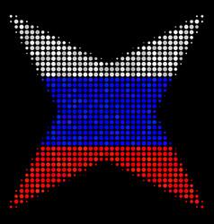 Halftone russian sparkle star icon vector