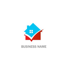 house check sale realty logo vector image