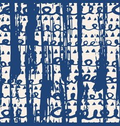 Indigo tie dye seamless pattern vector