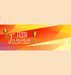Latin americal festa junina brazil festival banner vector