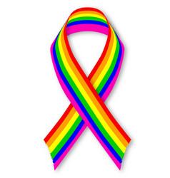 Lgbt awareness ribbon vector