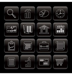 line business and office internet icons vector image