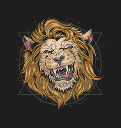 lion leo vector image