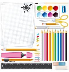 Mega school kit vector