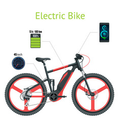 modern electric bike isolated on white background vector image