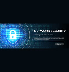 Network security the blue modern safety vector