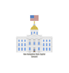 new hampshire state house vector image