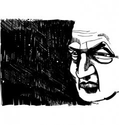 old man portrait vector image