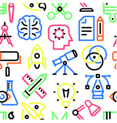 pattern of creativity linear icons vector image