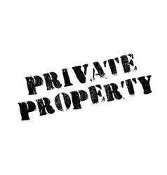 private property rubber stamp vector image