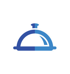 restaurant food abstract logo icon concept vector image