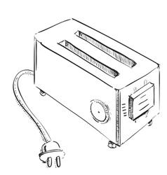 Retro old school toaster vector image