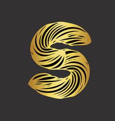 S-letter-design vector