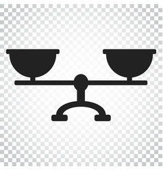 scale weigher icon weigher balance sign business vector image