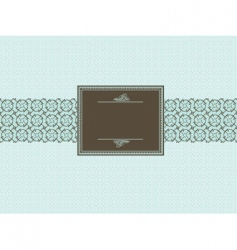 Seamless pattern and brown frame vector