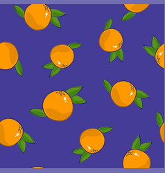 Seamless pattern grapefruit on purple background vector