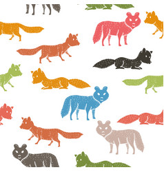 seamless pattern with companion dogs or wolves or vector image