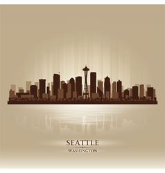 Seattle Washington skyline city silhouette vector image