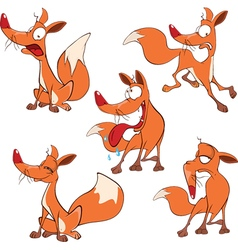 set funny foxes Cartoon vector image