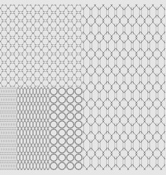 set of textures of metal grids and grates on a vector image