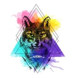 Sketch wolf vector