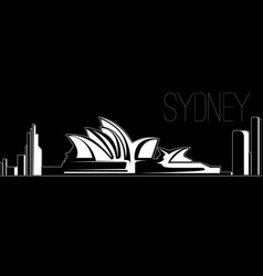 Skyline of sydney vector