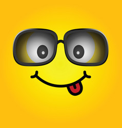 Smiley with sunglasses cartoon vector