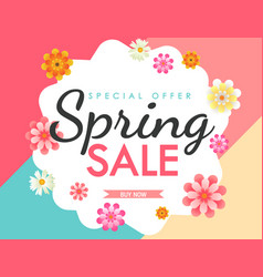 spring sale flower vector image