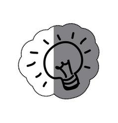 sticker sketch silhouette light bulb idea icon vector image