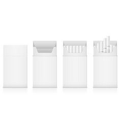 Template pack of cigarettes with white filter vector