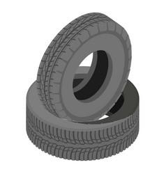Tire icon isometric style vector