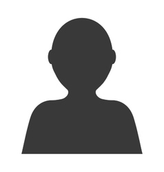 Unknown person vector image