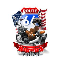 Vintage motorcycle bikers festival logo vector