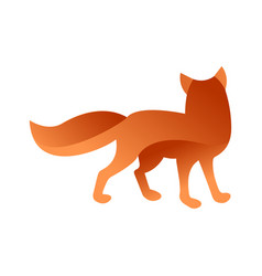 Wild fox animal jungle pet logo silhouette vector