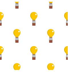 Yellow air balloon pattern seamless vector