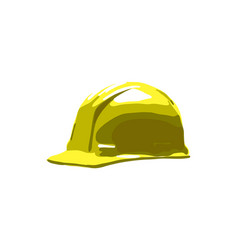 yellow safety helmet hard hat isolated on white vector image